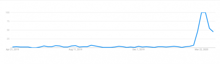 Google Trends Screenshot for Zoom Searches