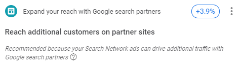 Expand your reach with Google partners optimization score reccomendation